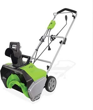 Greenworks 20-Inch 13 Amp Corded Snow Thrower 2600502