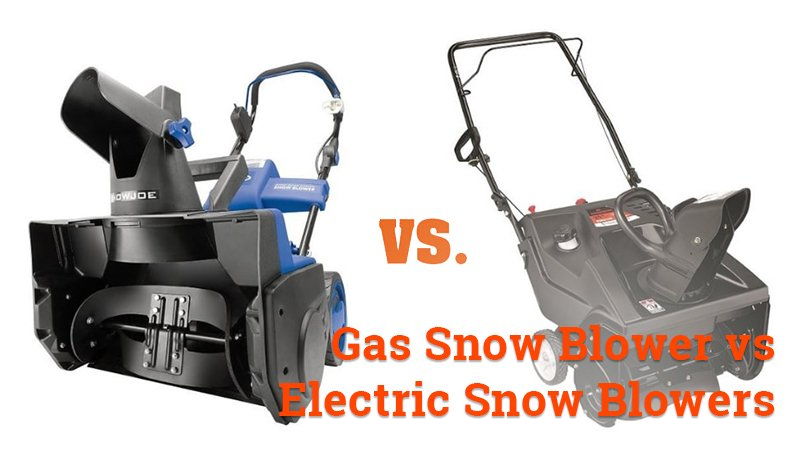 gas snow blower vs electric snow blower