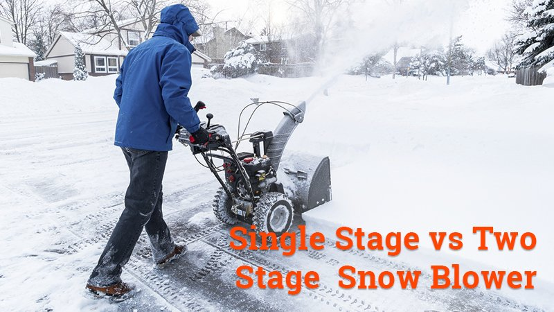 single stage vs two stage snow blower