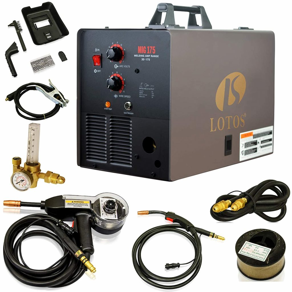 Lotos MIG175 175Amp MIG Welder for Home Use