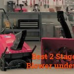 best 2 stage snow blower under 1000
