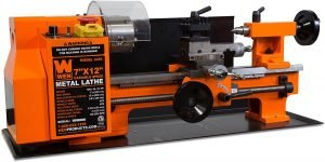 """WEN 3455 Variable Speed 7 by 12"""" Two-Direction Benchtop Metal Lathe"""